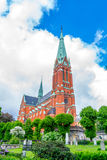 S:t Johannes church Side View. (Vertical View Stock Image