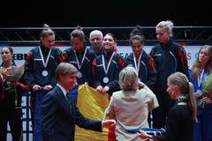 ` S Team European Champion 2017 de la muchacha de Rumania Fotos de archivo