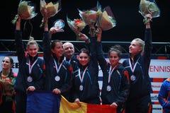 ` S Team European Champion 2017 de la muchacha de Rumania Imágenes de archivo libres de regalías