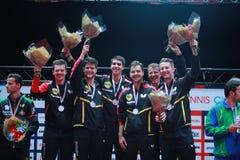 ` S Team European Champion 2017 de los hombres de Alemania Fotografía de archivo libre de regalías