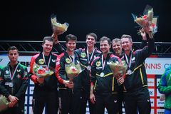 ` S Team European Champion 2017 de los hombres de Alemania Fotos de archivo