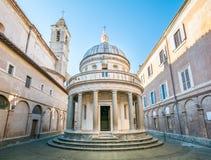 ` S Tempietto, San Pietro di Bramante a Montorio, Roma fotografie stock libere da diritti