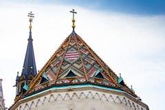 S-templom ¡ tyà ¡ церков Mà St Matthias - деталь Стоковое Изображение RF