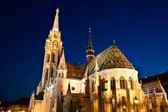 ¡ S Templom tyà ¡ Mà - церковь Matthias, Будапешт Стоковая Фотография
