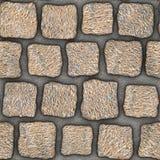 S046 textura sem emenda - pavers da pedra Foto de Stock