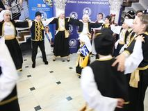 It`s the time of the carnival - dancers. In Romania at the 9th edition of the `The Carnival Time` festival, dedicated by the Hellenic Union to the entrance in stock video footage