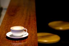Coffee time at cafe royalty free stock image