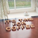 It's time for coffee Royalty Free Stock Image