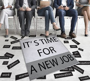 It`s Time For New Job Career Employment Concept. It`s Time For New Job Career Employment Stock Images
