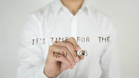 It's Time for the New Job, Written on Glass. High quality Stock Images