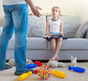 It's time to clean up your toys! stock fotografie