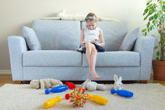 It's time to clean up your toys! Stock Photos