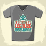 It's time to legalize Marijuana - Vector shirt print design Stock Photo
