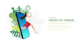 It`s time to return to nature royalty free stock photography