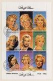 S. Tomo E Principe circa 2002 sellos de Marilyn M Foto de archivo libre de regalías