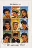 S. Tomo E Principe circa 2002 selos de Elvis pre Imagem de Stock Royalty Free