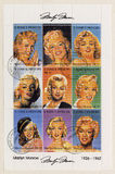 S. Tomo E Principe circa 2002 selos de Marilyn M Foto de Stock Royalty Free