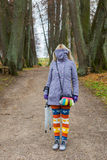 It's too cold to walk this autumn Stock Photography