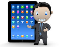 It's touchpad era! Social 3D characters Royalty Free Stock Images
