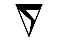 S trójboka logo Zdjęcia Royalty Free