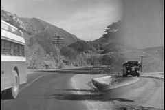 1940s transportation montage stock footage