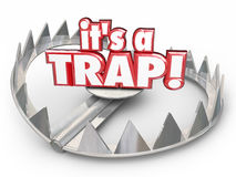 It's a Trap Steel Bear Trap 3d Words Scam Fraud Stock Images