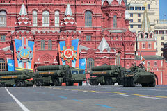 S-400 Triumf. MOSCOW, RUSSIA - MAY 09, 2014: Celebration of the 69th anniversary of the Victory Day (WWII). Solemn passage of military hardware on Red Square Stock Photography