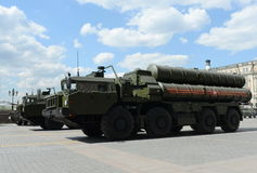 The S-400 Triumf (NATO reporting name: SA-21 Growler) is an anti-aircraft weapon system large and medium-range. Stock Photo