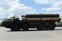 S-400 Triumf (NATO-WSKI reportażu imię: SA-21 mruk) jest przeciwlotniczym systemu broni pasmem i ampułą Obrazy Stock