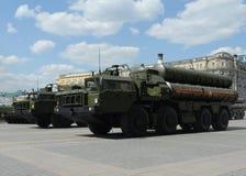 S-400 Triumf (NATO-WSKI reportażu imię: SA-21 mruk) jest przeciwlotniczym systemu broni pasmem i ampułą Zdjęcie Royalty Free