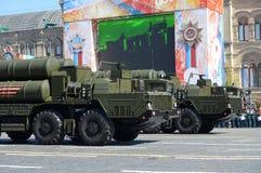 S-400 Triumf reportażu NATO-WSKI imię: SA-21 mruk jest ampułą rozwijać Rosja przeciwlotniczym systemu broni pasmem i Obraz Royalty Free