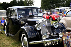 1950s Triumph Mayflower. A classic 1950s black Triumph Mayflower on display at the Moorgreen Country show, Nottinghamshire, England, UK Royalty Free Stock Image