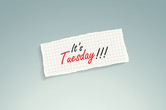 It's Tuesday Stock Photography