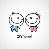 It's twins Royalty Free Stock Photos
