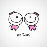 It's twins royalty free illustration