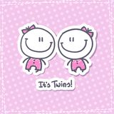 It's twins Stock Images