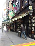 Beer Delivery, Irish Pub and Restaurant, NYC, NY, USA. It`s two days before St. Patrick`s Day and this Irish pub and restaurant near Times Square is receiving a Royalty Free Stock Photography