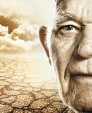 ηλικιωμένο άτομο s προσώπο&u Στοκ Εικόνες