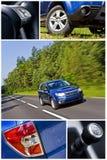 S.U.V. auto collage Royalty-vrije Stock Afbeelding