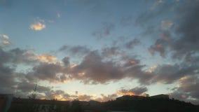 S?ubern Sie Sonnenuntergang lizenzfreies stockfoto