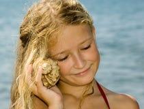 słuchaj oceanu Fotografia Stock
