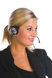 słuchawki kobieta zdjęcie royalty free