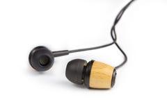 Słuchawki na biel Obraz Stock