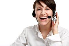 słuchawki operatora kobieta Fotografia Royalty Free