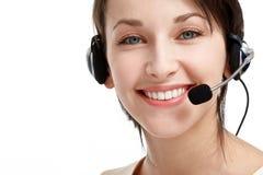 słuchawki operatora kobieta Obrazy Royalty Free