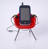 słuchawki telefon komórkowy Obraz Royalty Free