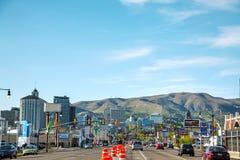 S ulica w Salt Lake City w wieczór Obrazy Royalty Free
