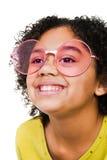 s'user de sourire de lunettes de soleil de fille Photographie stock libre de droits