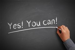 ¡Sí! ¡Usted puede! Fotografía de archivo libre de regalías