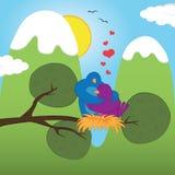 S.Valentine_birds Stock Image
